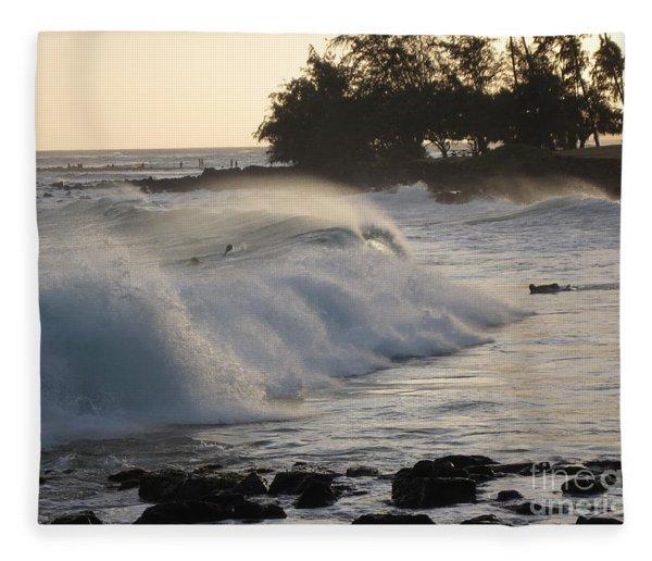 Kauai - Brenecke Beach Surf Fleece Blanket