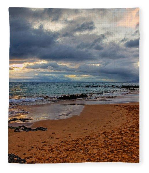 Keawakapu Beach Fleece Blanket