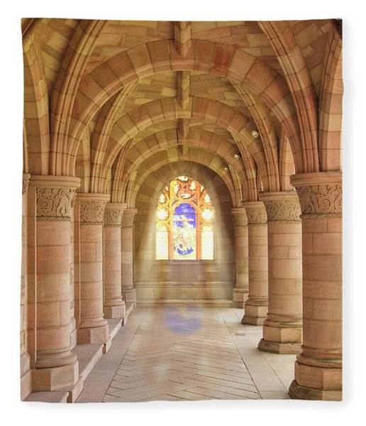 Kelso Abbey Stained Glass Fleece Blanket