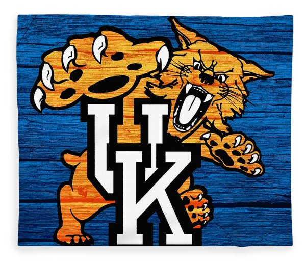 Kentucky Wildcats Barn Door Fleece Blanket