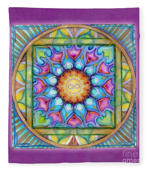 Kindness Mandala Fleece Blanket