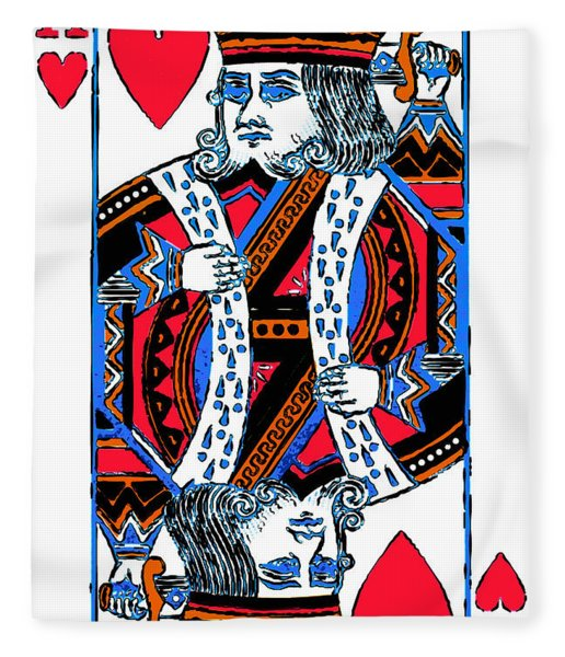 King Of Hearts 20140301 Fleece Blanket