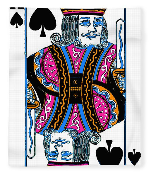King Of Spades - V3 Fleece Blanket