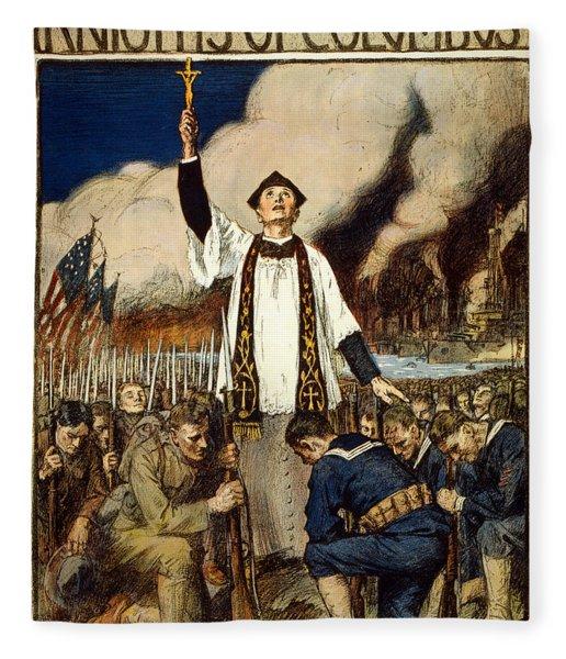 Knights Of Columbus, 1917 Fleece Blanket