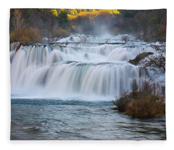Krka Waterfalls Fleece Blanket