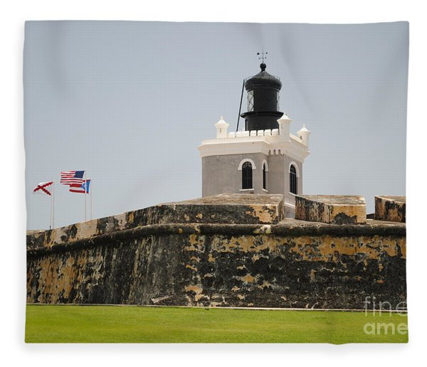 La Fortaleza Light Tower Fleece Blanket