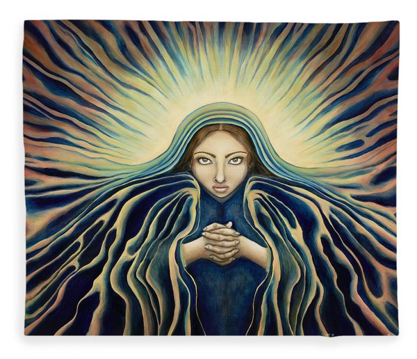 Lady Of Light Fleece Blanket