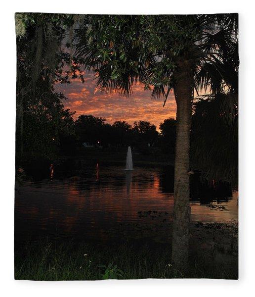 Lake Play Florida Fleece Blanket