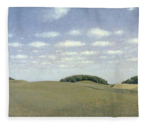 Landscape From Lejre Fleece Blanket