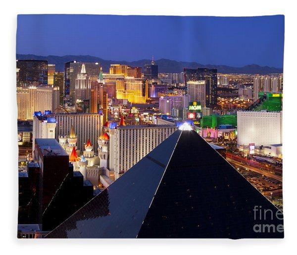 Fleece Blanket featuring the photograph Las Vegas Skyline by Brian Jannsen