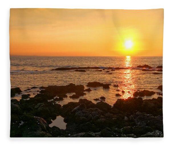 Lava Rock Beach Fleece Blanket