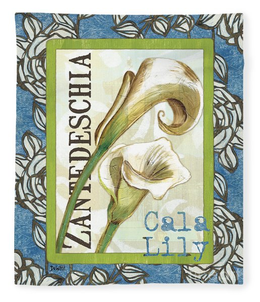 Lazy Daisy Lily 1 Fleece Blanket