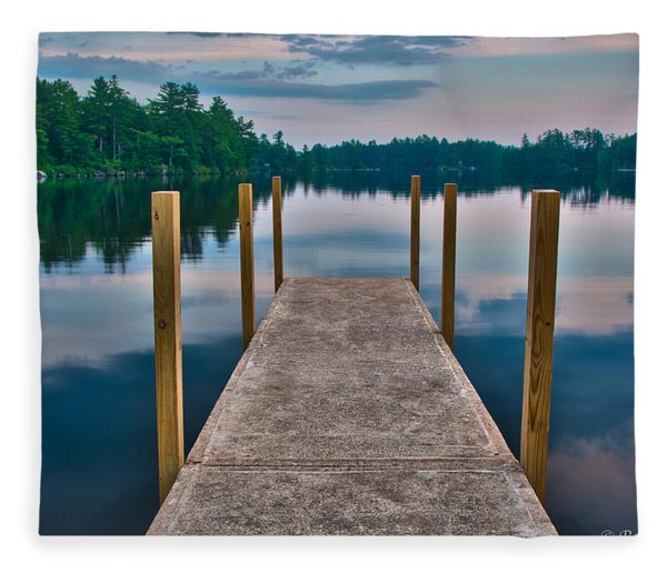Lees Mills Dock Fleece Blanket