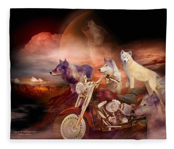 Legend Of Wolf Mountain Fleece Blanket