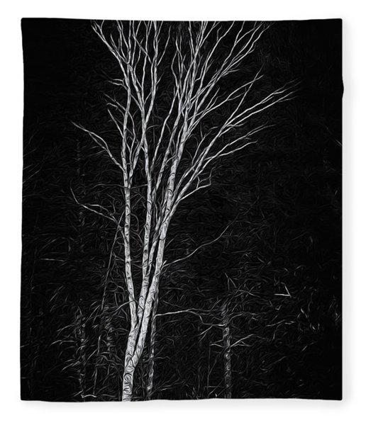 Life's A Birch No.2 Fleece Blanket