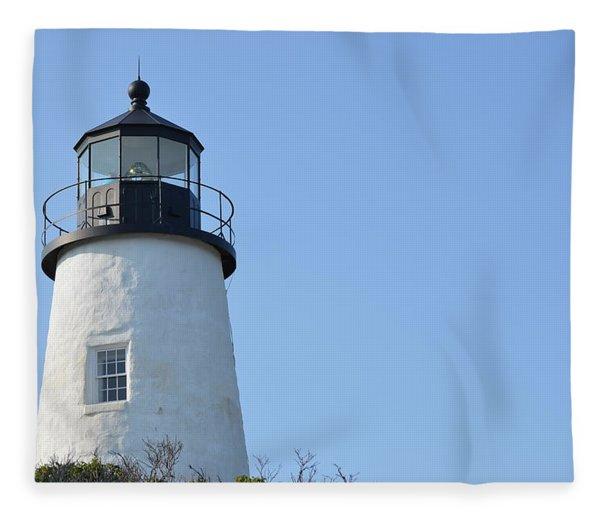 Lighthouse On Clear Day Fleece Blanket