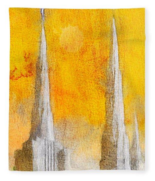 Like A Fire Is Burning - Panoramic Fleece Blanket