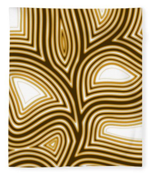Fleece Blanket featuring the digital art Lines 03/9/12 by Matt Lindley