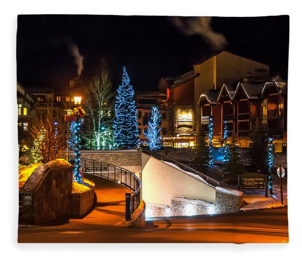 Lions Head Village Vail Colorado Fleece Blanket
