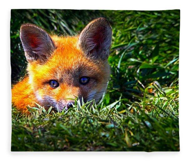 Little Red Fox Fleece Blanket