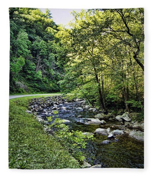 Little River Road Fleece Blanket