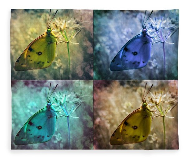 Lives Of A Butterfly Fleece Blanket