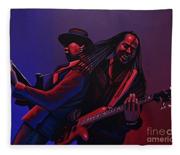 Living Colour Painting Fleece Blanket