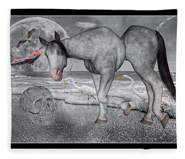 Living In A Pinched World Fleece Blanket