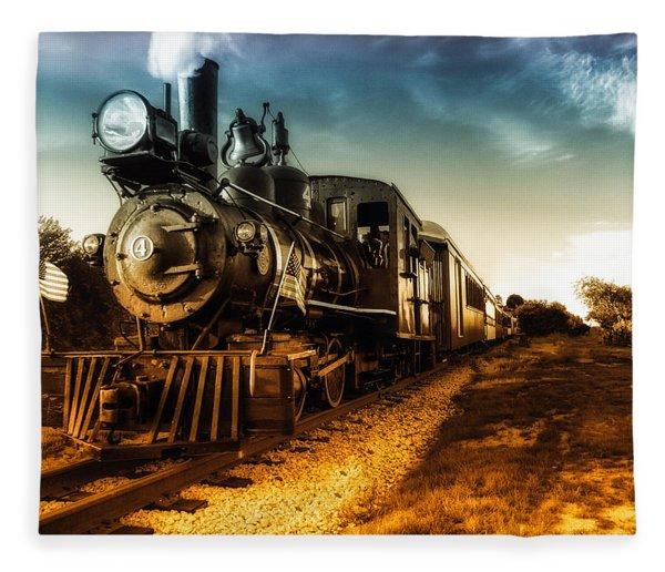 Locomotive Number 4 Fleece Blanket