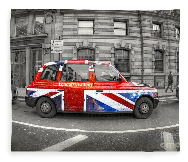 London's Calling Fleece Blanket