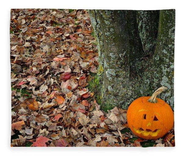 Lonely Pumpkin Fleece Blanket