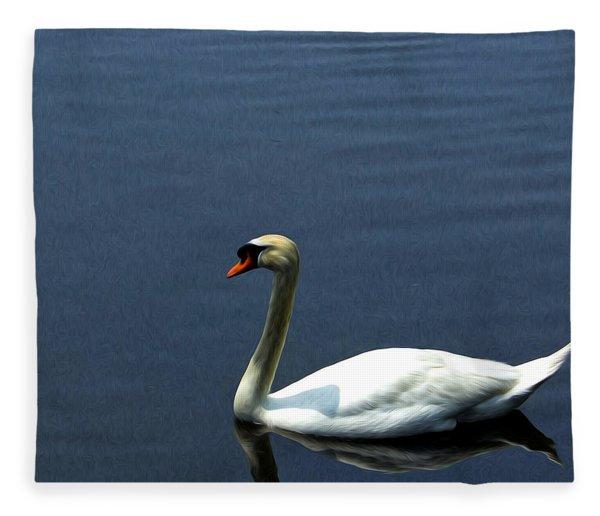 Lonesome Swan Fleece Blanket