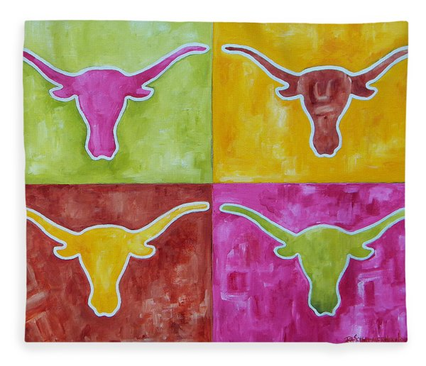 Longhorn Pop Art Fleece Blanket