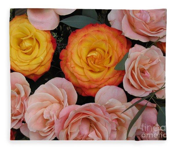 Love Bouquet Fleece Blanket