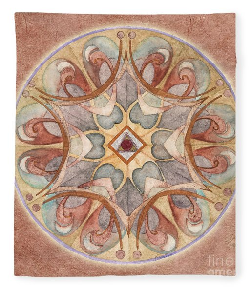 Love Mandala Fleece Blanket