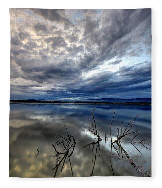 Magical Lake - Vertical Fleece Blanket