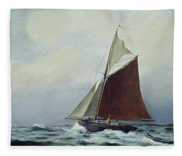 Making Sail After A Blow Fleece Blanket