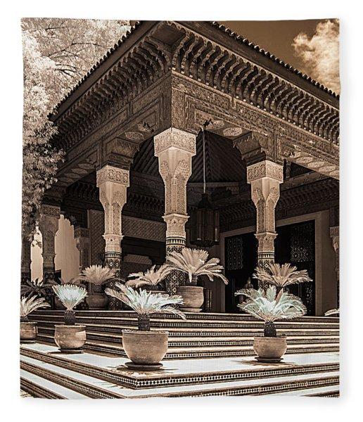 Mamounia Hotel In Marrakech Fleece Blanket