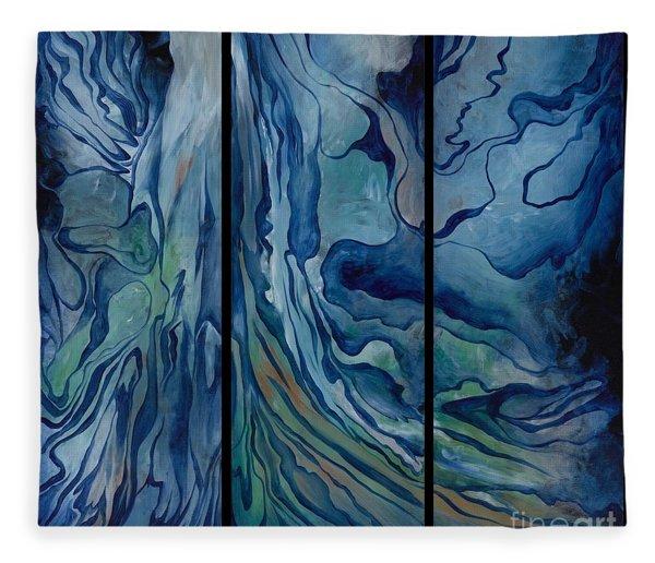 Marina Triptych Fleece Blanket