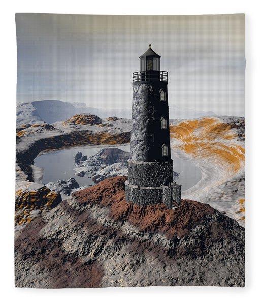 Fleece Blanket featuring the digital art Marine Memory - Surrealism by Sipo Liimatainen