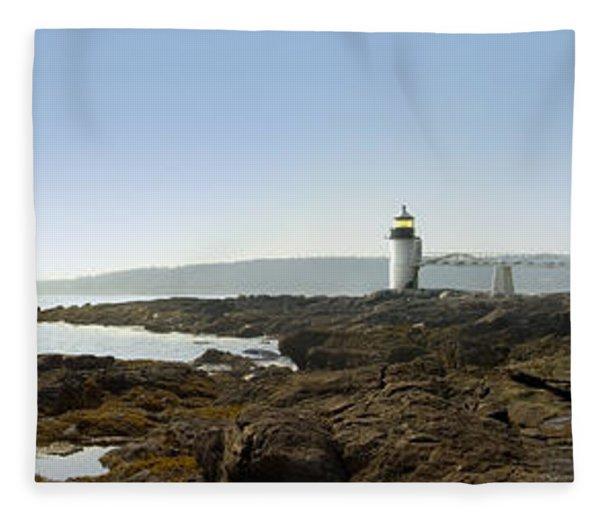 Marshall Point Lighthouse - Panoramic Fleece Blanket