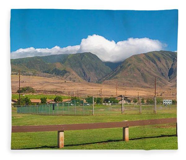 Maui Hawaii Mountains Near Kaanapali   Fleece Blanket