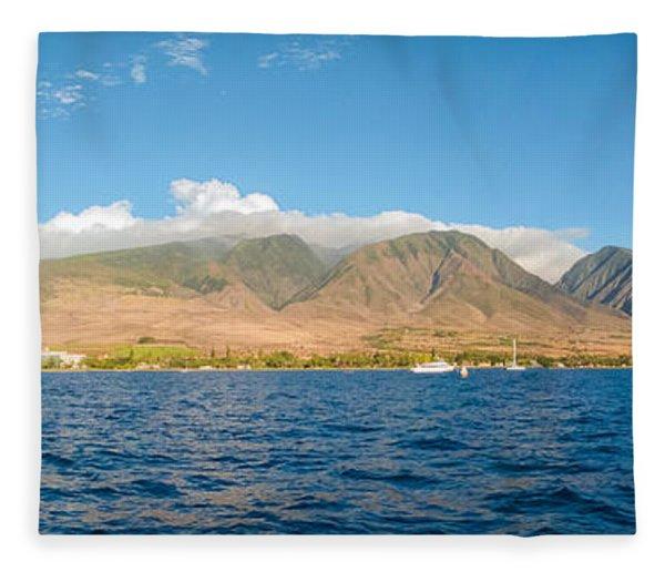 Maui's Southern Mountains   Fleece Blanket
