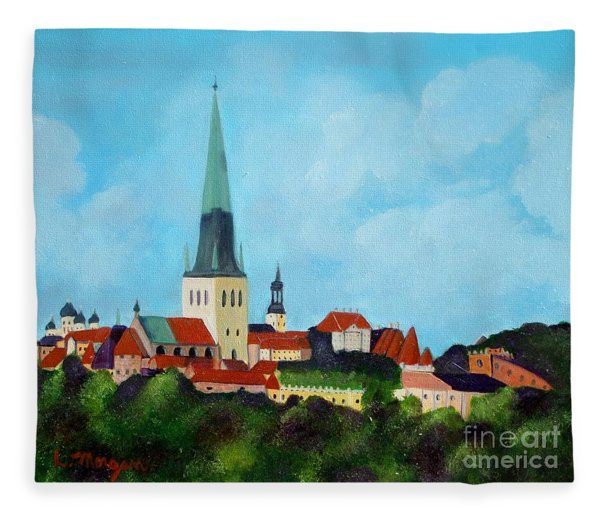 Medieval Tallinn Fleece Blanket