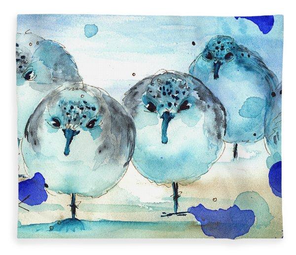 Meet The Sanderlings Fleece Blanket