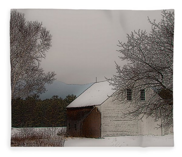 Melvin Village Barn Fleece Blanket