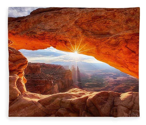 Mesa's Sunrise Fleece Blanket