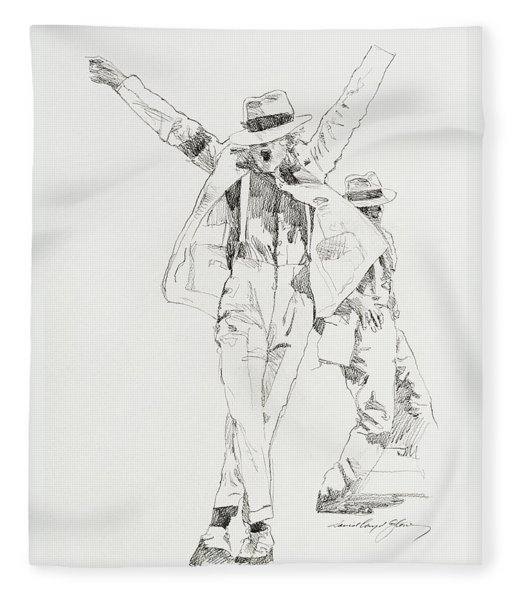 Michael Smooth Criminal Fleece Blanket
