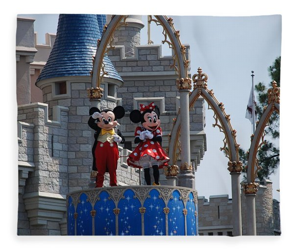 Mickey And Minnie In Living Color Fleece Blanket