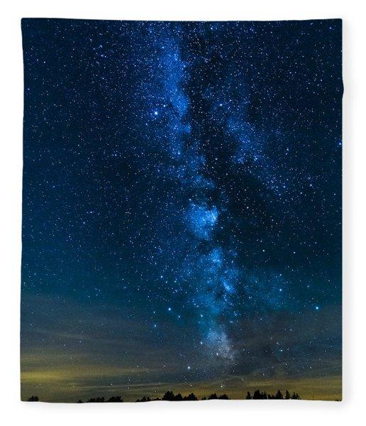 Milky Way Cherry Springs Fleece Blanket